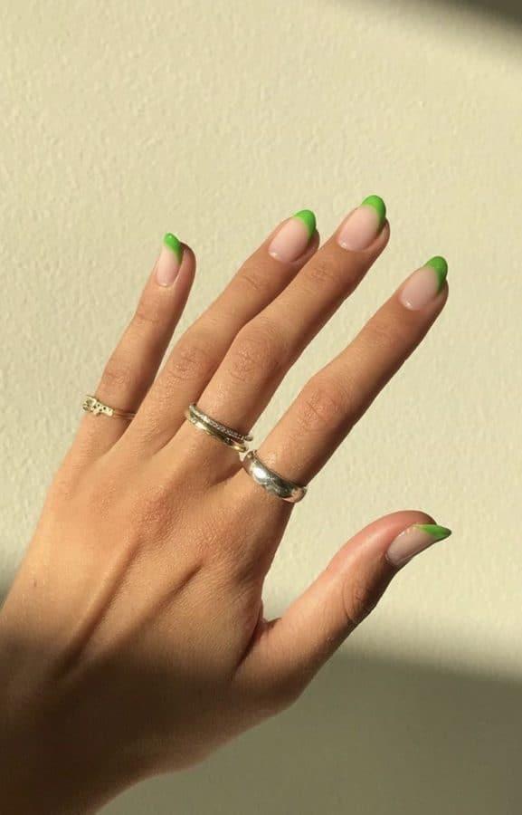 nails 2021 green