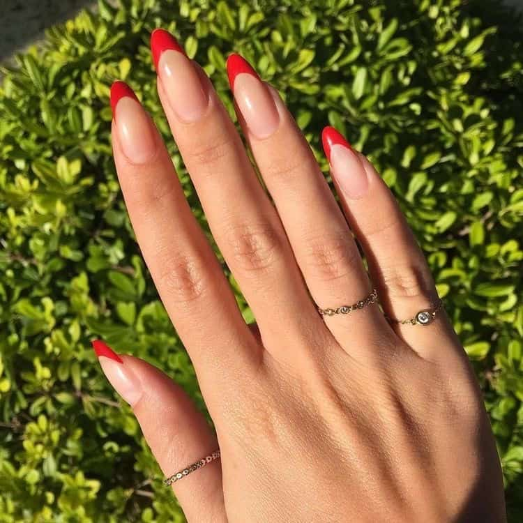 nails 2021 red