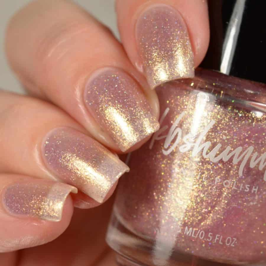2021 nail trends rose gold