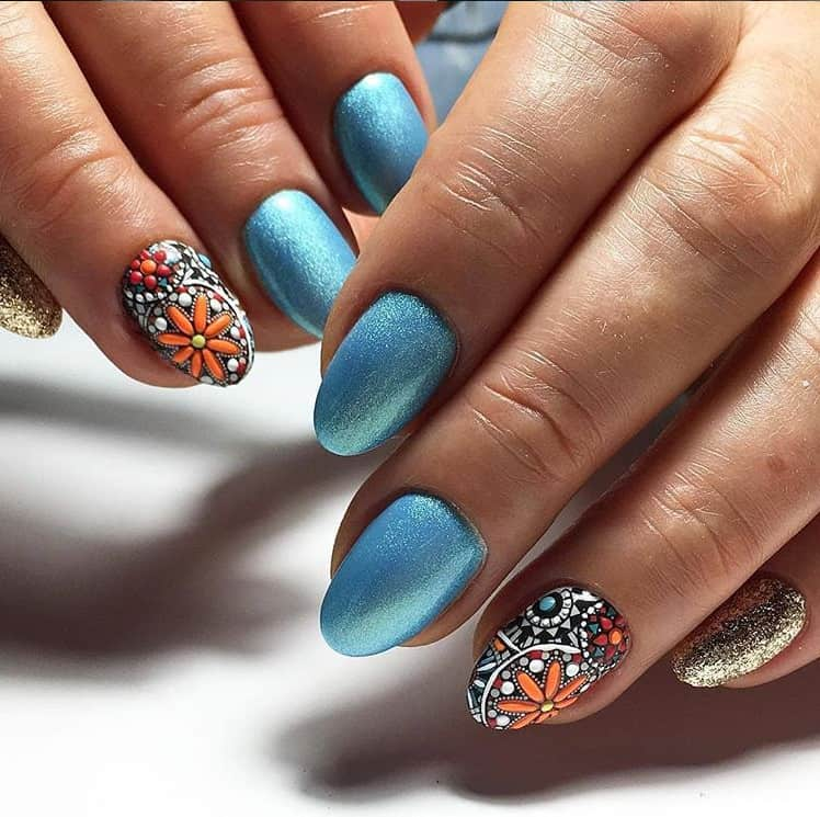 Blue Nails 2021: 23 New Awesome Styles and Trends