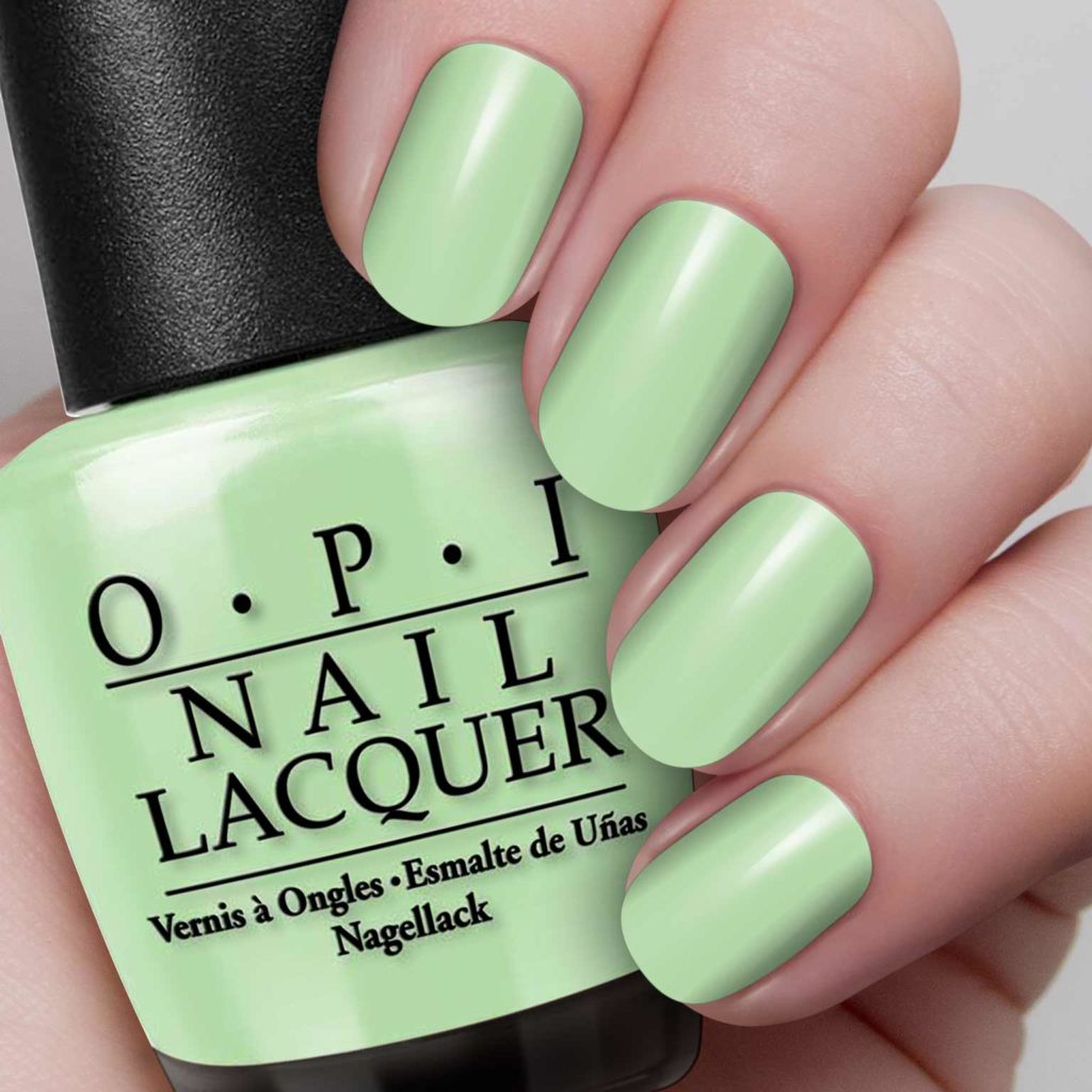 Birth of nature: the green, as one of the OPI nail polish colors 2022