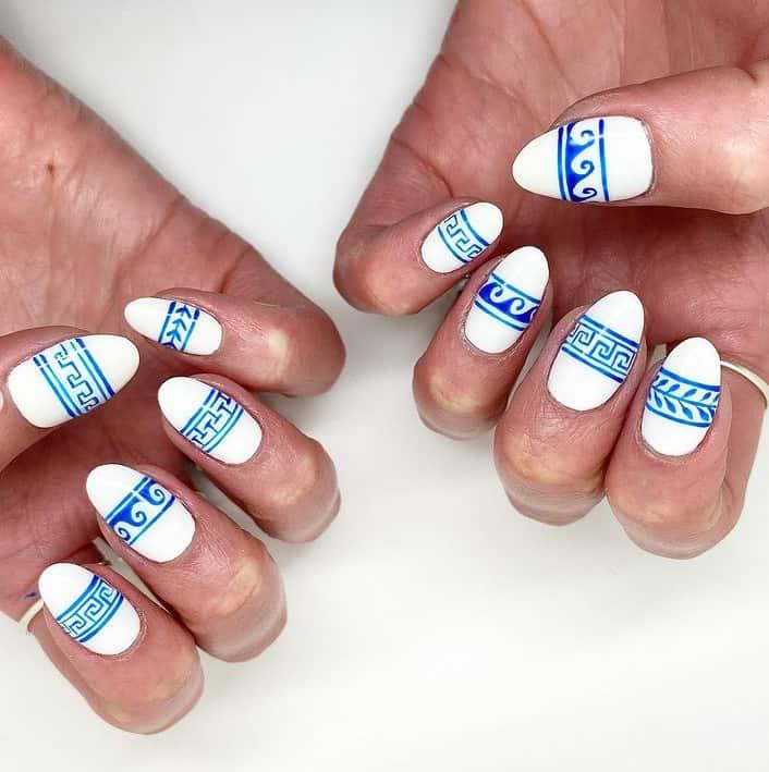 Blue Japan Nail Art 2022