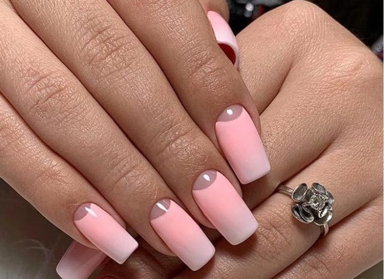 Ombre Pink Gel Nails 2022