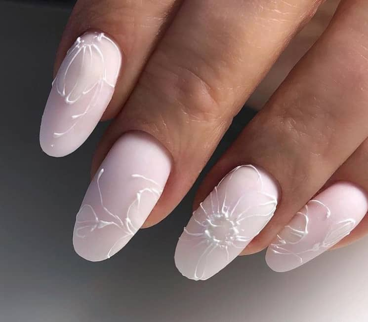 Stripes on French Manicure
