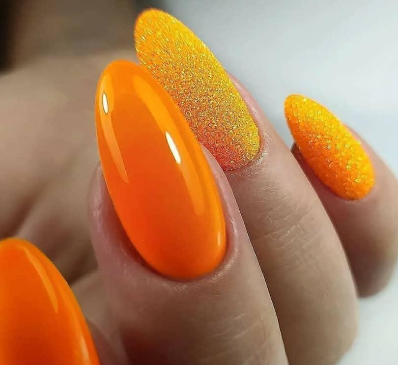 Exotic Gamboge Yellow. Gel Nails 2022
