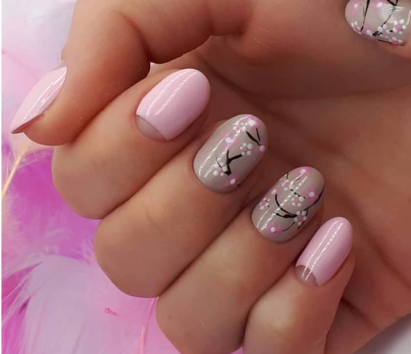 Thin Branches on Nails. OPI spring 2022