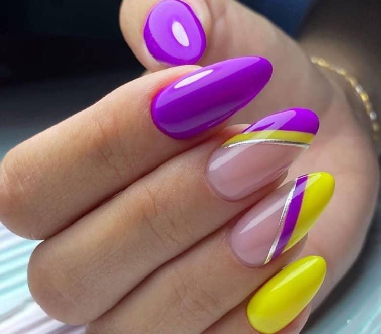 Purple Lines - Choose Spring nail colors 2022