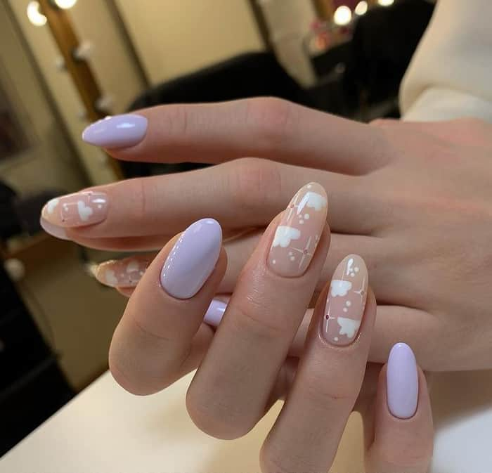 Clouds on Summer Nails 2022