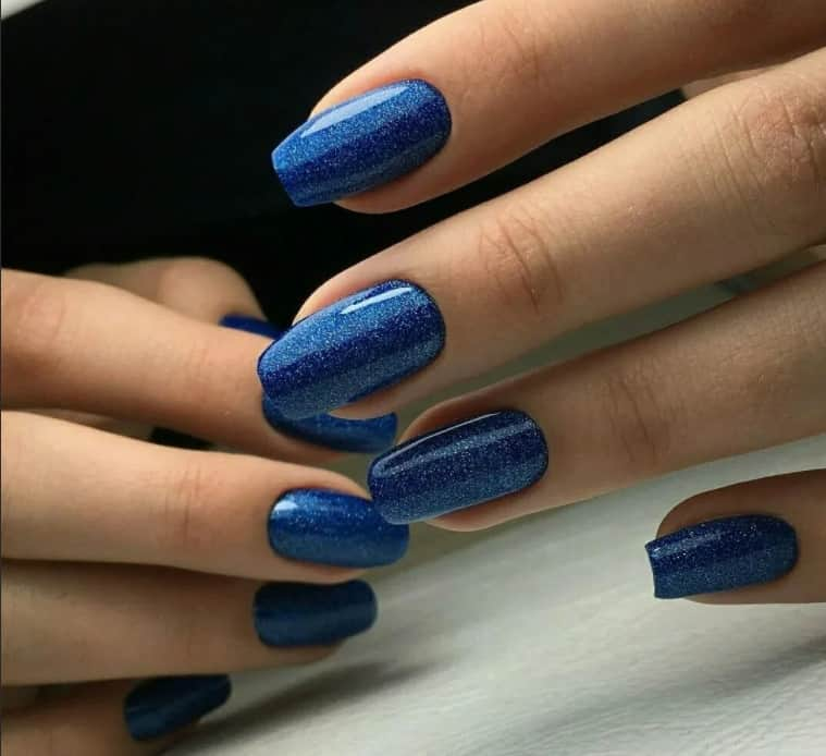 Midnight Blue for Magic Night. Winter Nails 2022