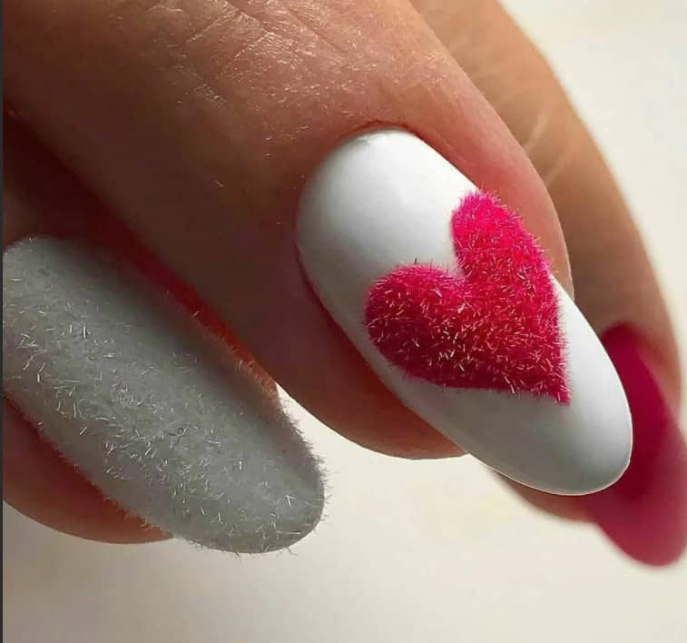 Heart Shaped Stamps. Winter Nail Colors 2022
