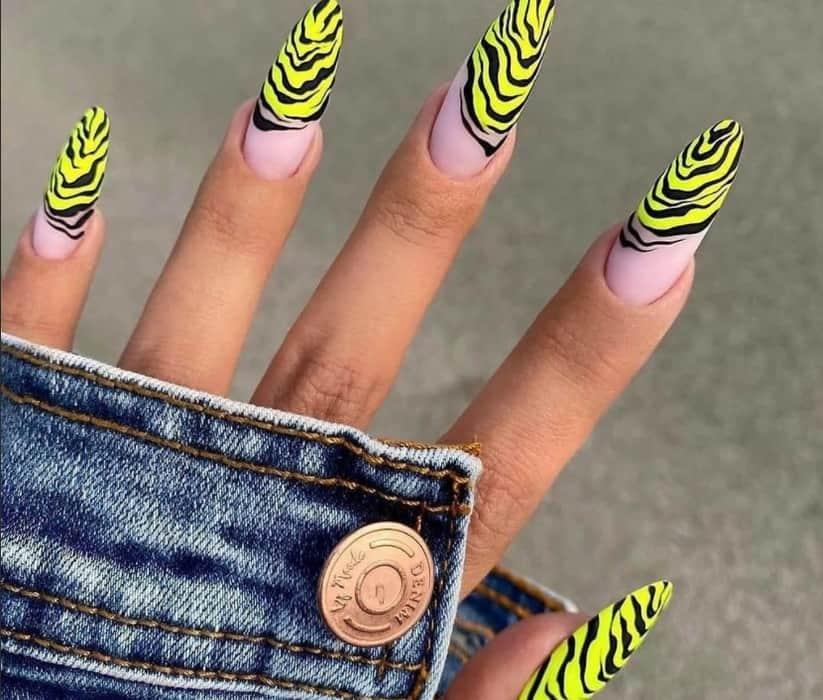 Wavy Colorful Acrylic Nails 2022