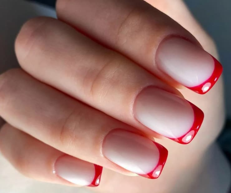 Red for French Manicure 2022