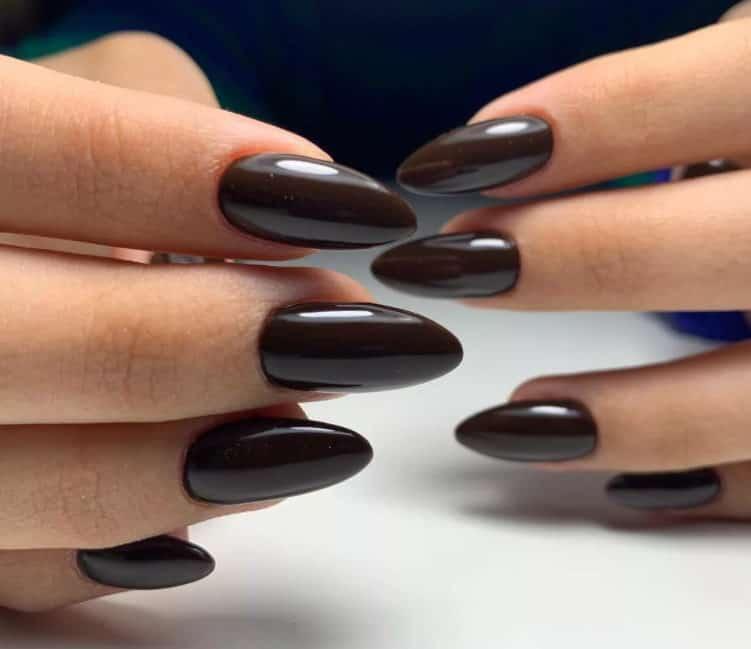 Dark Chocolate Mood. Fall Nails 2022