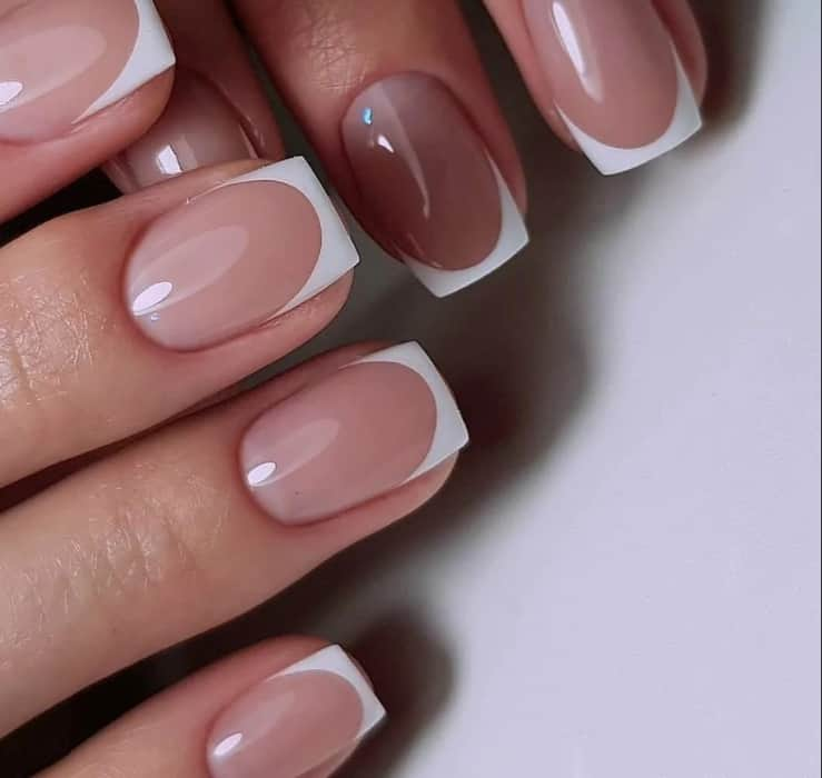 Classic French Gel Nails 2022