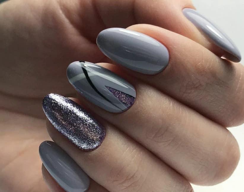 Ordinary Gray. Gel Nail Designs 2022