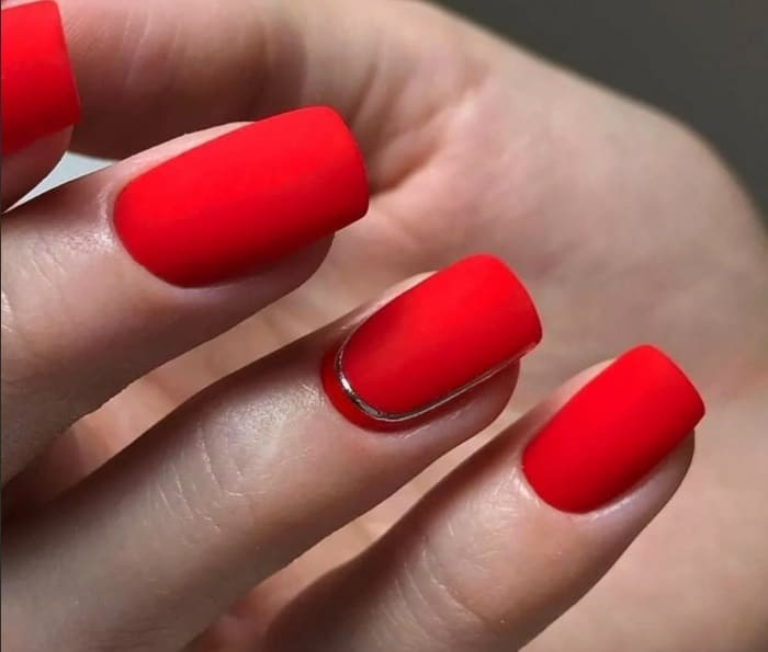 Matte Maroon - Red Nails 2022