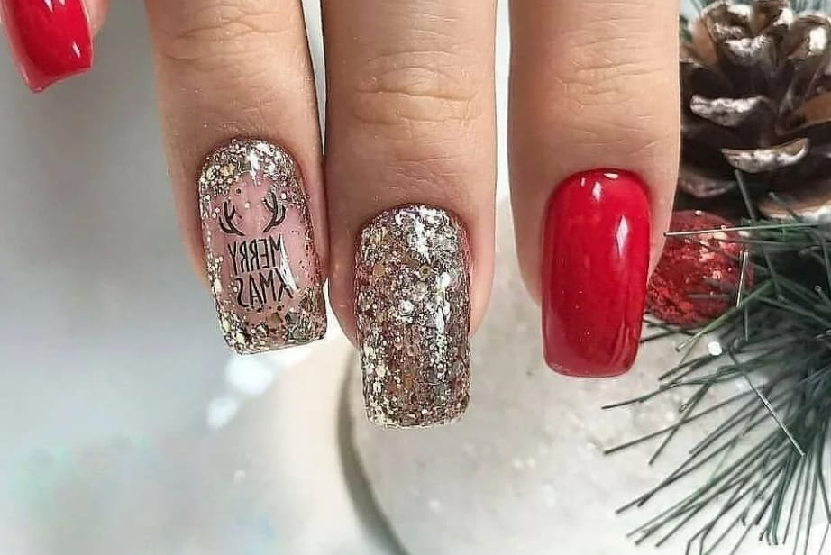 Red Nails Ideas 2022 on Silver