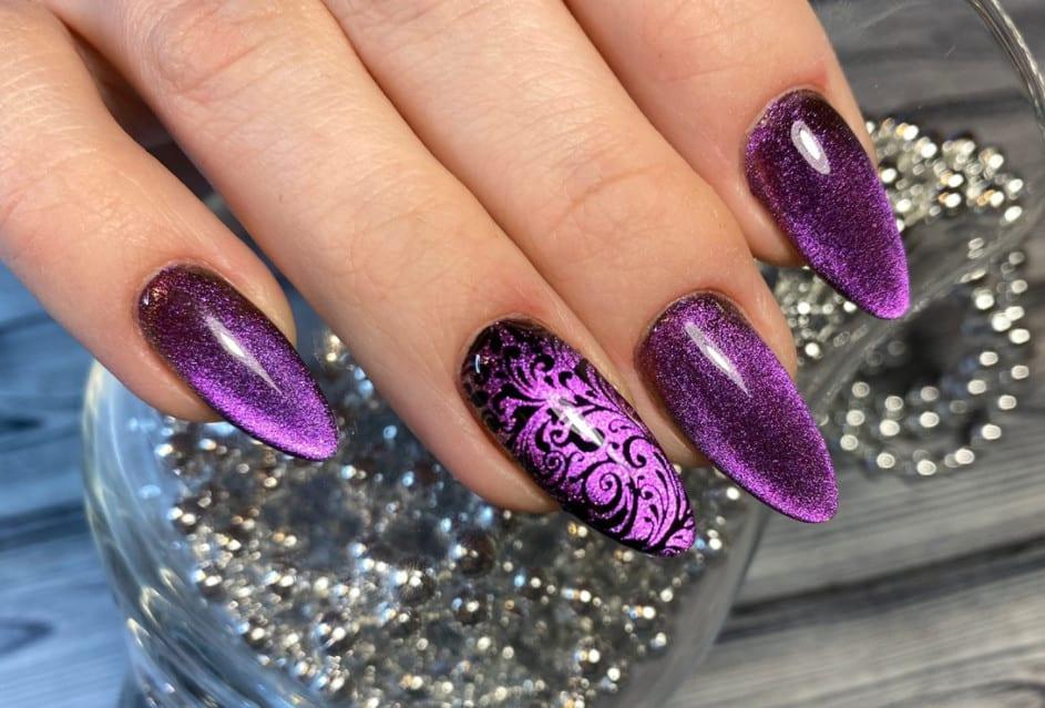 Rich Violet Shade. Gel Nails 2022