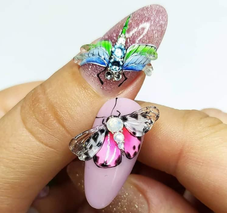 3D Effects for Shellac Nails