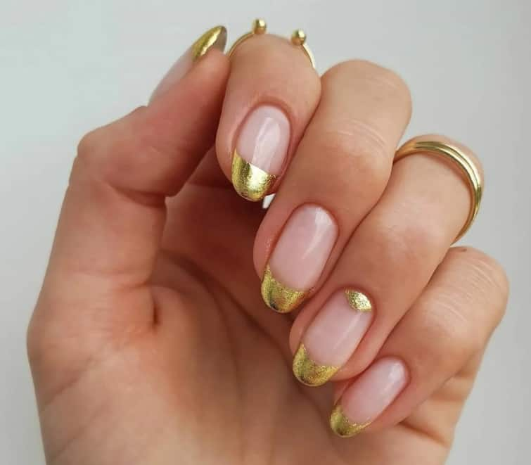 Principal Solidness. French Nails 2022 golden french