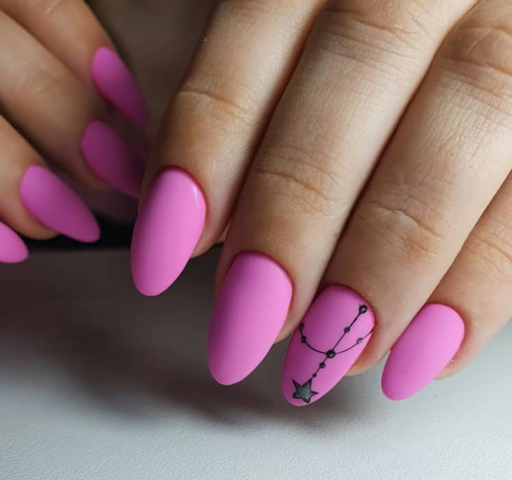 Matte Pink Nails Design 2022